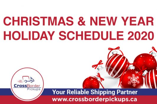 Christmas & New Year Holiday Schedule 2020